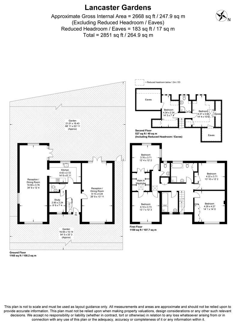 Floorplan for Lancaster Gardens, Wimbledon